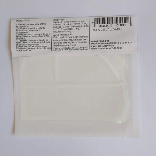 Adesivo de melatonina para insônia – cartela com 6 unidades