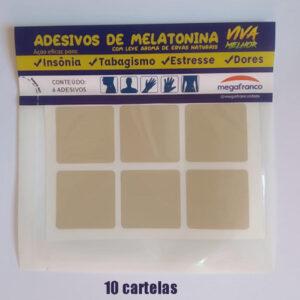 Kit com 10 cartelas de Adesivos anti insônia e tabagismo