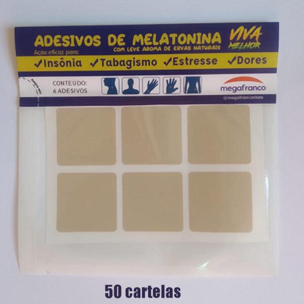 Kit com 50 cartelas de Adesivos anti insônia e tabagismo