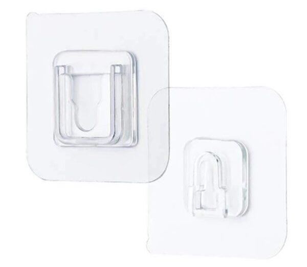 Gancho adesivo para fixar objeto na parede – 5 Pares.