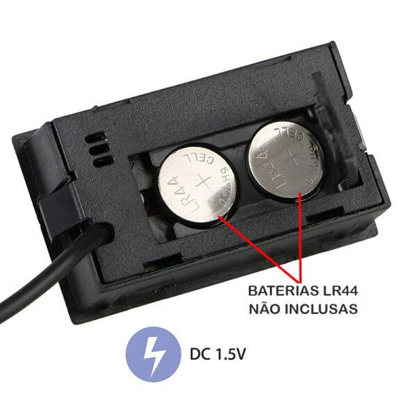 Higrômetro digital com sonda mede temperatura e umidade