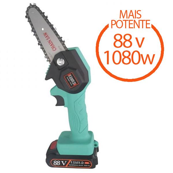 Mini serra elétrica portátil recarregável 88v 1080w